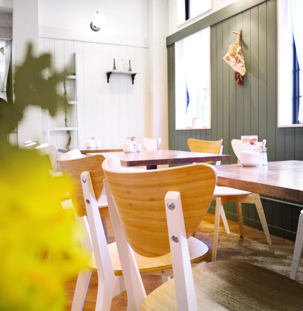 cafe blanclapin 店内